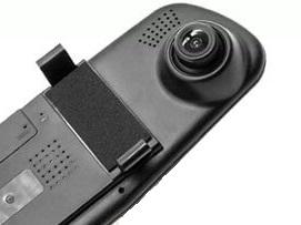 камера на зеркале видеорегистратора Vehicle Blackbox DVR Full HD располагается на шаровом шарнире