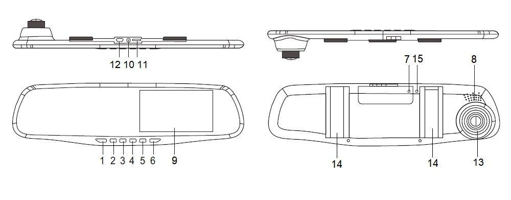 Общий вид видеорегистратора Vehicle Blackbox DVR